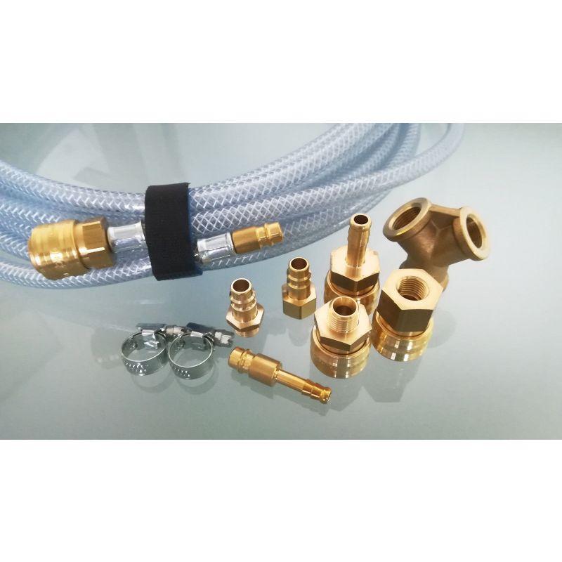Druckluftkupplung Schnellsteckkupplung Stecknippel Pneumatik Kupplung Schlauch[Stecker/Tülle mit Schlauchanschluss,4 mm]
